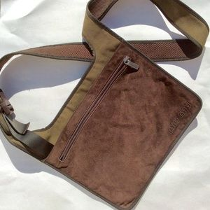 Miu Miu Suede Messenger Crossbody Bag Brown/Olive